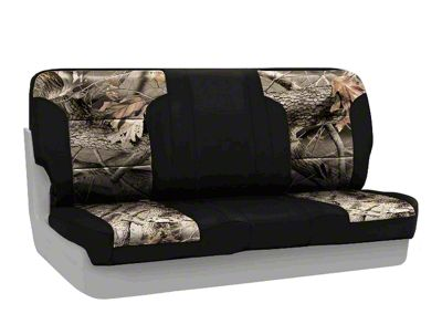 Coverking Real Tree Neosupreme Rear Seat Covers - Hardwoods/Black (97-06 Jeep Wrangler TJ)