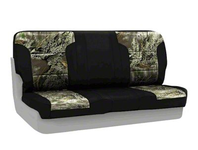 Coverking Real Tree Neosupreme Rear Seat Covers - MAX 1/Black (87-95 Jeep Wrangler YJ)
