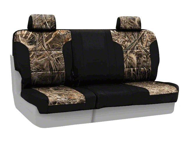 Coverking Real Tree Neosupreme Rear Seat Covers - MAX 5/Black (07-18 Jeep Wrangler JK)