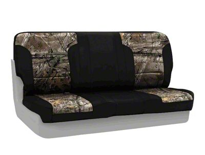 Coverking Real Tree Neosupreme Rear Seat Covers - XTRA/Black (87-95 Jeep Wrangler YJ)