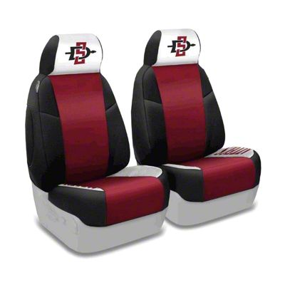 Coverking San Diego State University Front Seat Covers (87-95 Jeep Wrangler YJ)