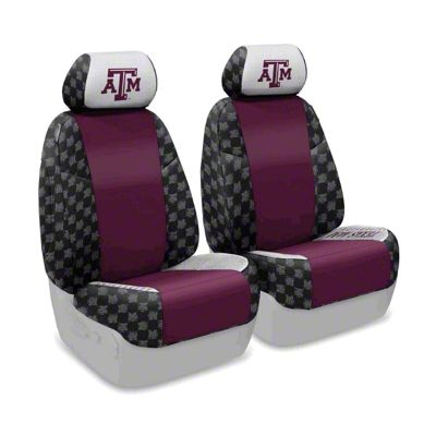 Coverking Texas A&M University Front Seat Covers (07-18 Jeep Wrangler JK)