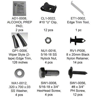 Bushwacker Flat Style Rear Fender Flare Hardware Kit (07-18 Jeep Wrangler JK 2 Door)