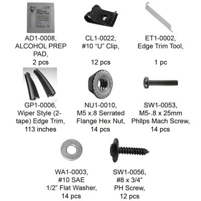 Bushwacker Flat Style Rear Fender Flare Hardware Kit (87-95 Jeep Wrangler YJ)