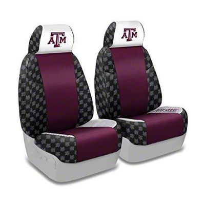 Coverking Texas A&M University Front Seat Covers (87-95 Jeep Wrangler YJ)