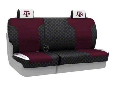 Coverking Texas A&M University Rear Seat Covers (07-18 Jeep Wrangler JK)