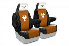 Coverking Texas at Austin University Front Seat Covers (97-06 Jeep Wrangler TJ)
