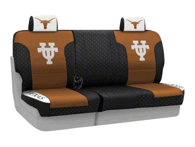 Coverking Texas at Austin University Rear Seat Covers (07-18 Jeep Wrangler JK)