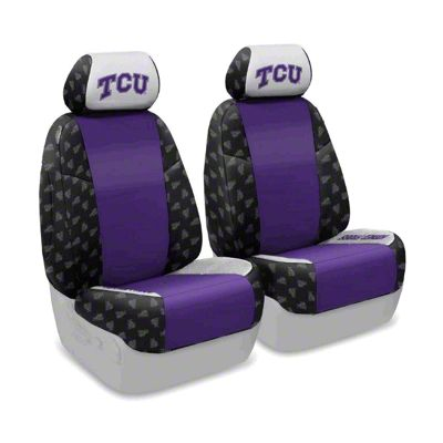 Coverking Texas Christian University Front Seat Covers (07-18 Jeep Wrangler JK)