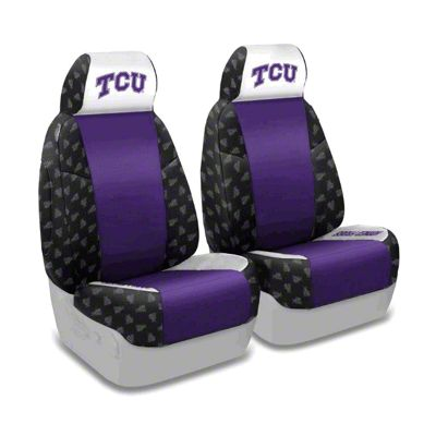 Coverking Texas Christian University Front Seat Covers (97-06 Jeep Wrangler TJ)