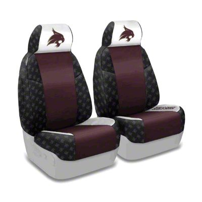 Coverking Texas State University Front Seat Covers (87-95 Jeep Wrangler YJ)
