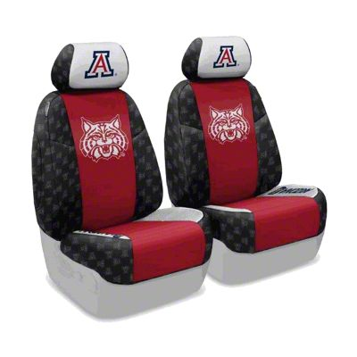 Coverking University of Arizona Front Seat Covers (07-18 Jeep Wrangler JK)