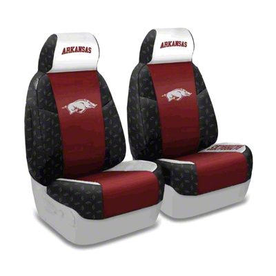 Coverking University of Arkansas Front Seat Covers (87-95 Jeep Wrangler YJ)