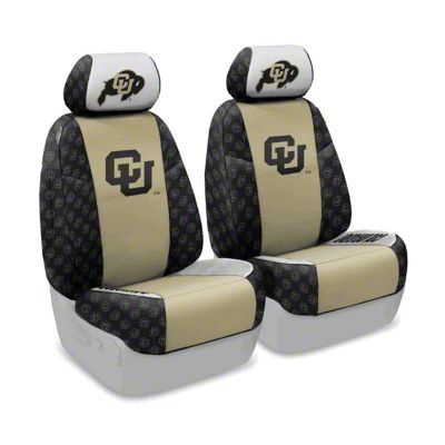 Coverking University of Colorado Front Seat Covers (07-18 Jeep Wrangler JK)