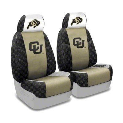 Coverking University of Colorado Front Seat Covers (87-95 Jeep Wrangler YJ)