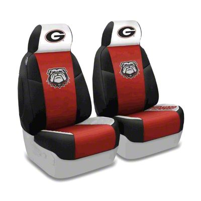 Coverking University of Georgia Front Seat Covers (87-95 Jeep Wrangler YJ)