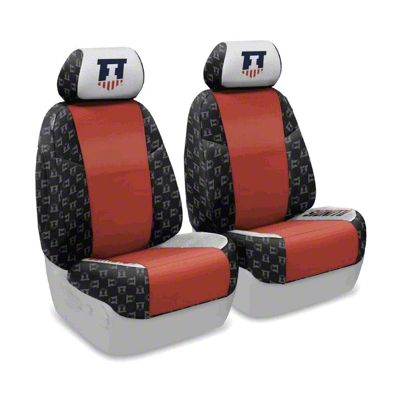 Coverking University of Illinois Front Seat Covers (07-18 Jeep Wrangler JK)