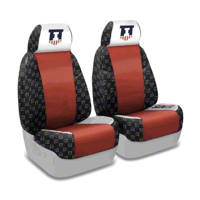 Coverking University of Illinois Front Seat Covers (87-95 Jeep Wrangler YJ)
