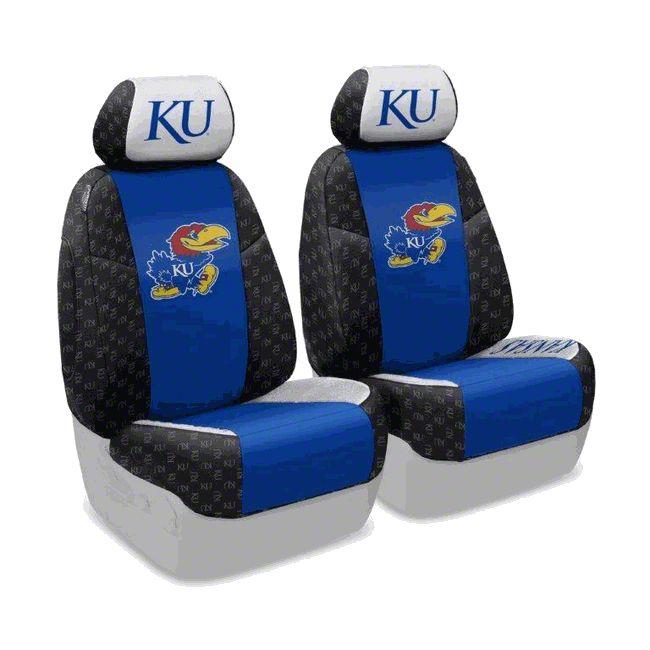 Coverking University of Kansas Front Seat Covers (07-18 Jeep Wrangler JK)