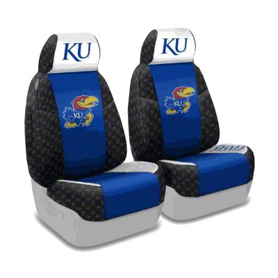 Coverking University of Kansas Front Seat Covers (87-95 Jeep Wrangler YJ)