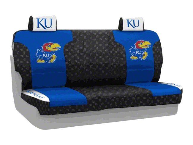 Coverking University of Kansas Rear Seat Covers (07-18 Jeep Wrangler JK)