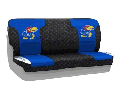 Coverking University of Kansas Rear Seat Covers (87-95 Jeep Wrangler YJ)