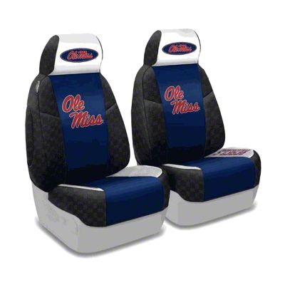 Coverking University of Mississippi Front Seat Covers (87-95 Jeep Wrangler YJ)