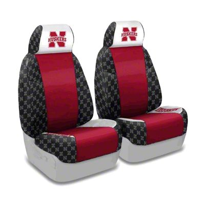Coverking University of Nebraska Front Seat Covers (97-06 Jeep Wrangler TJ)