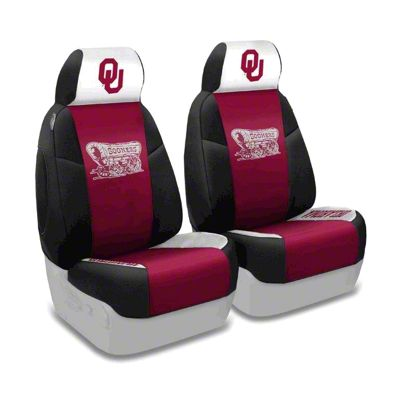 Coverking University of Oklahoma Front Seat Covers (97-06 Jeep Wrangler TJ)