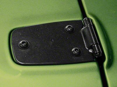 Rugged Ridge Hood Hinges - Black (87-95 Jeep Wrangler YJ)
