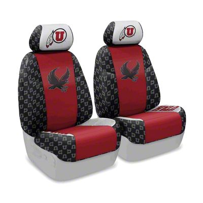 Coverking University of Utah Front Seat Covers (07-18 Jeep Wrangler JK)