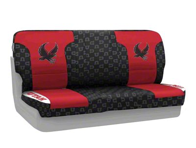 Coverking University of Utah Rear Seat Covers (87-95 Jeep Wrangler YJ)