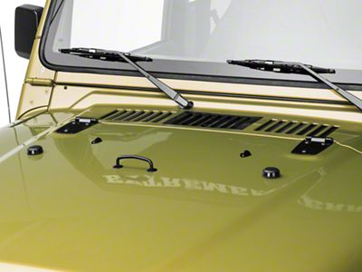 Rugged Ridge Hood Dress Up Kit - Semi-Gloss Black (97-06 Jeep Wrangler TJ)