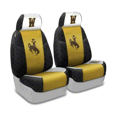 Coverking University of Wyoming Front Seat Covers (87-95 Jeep Wrangler YJ)