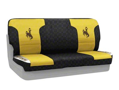 Coverking University of Wyoming Rear Seat Covers (87-95 Jeep Wrangler YJ)