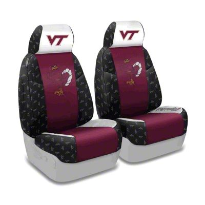 Coverking Virginia Tech Front Seat Covers (87-95 Jeep Wrangler YJ)