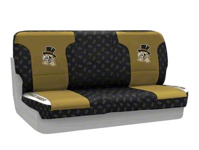 Coverking Wake Forest University Rear Seat Covers (97-06 Jeep Wrangler TJ)