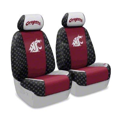 Coverking Washington State University Front Seat Covers (07-18 Jeep Wrangler JK)