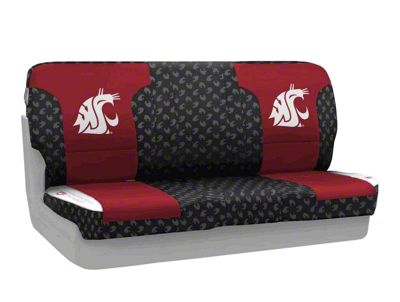 Coverking Washington State University Rear Seat Covers (87-95 Jeep Wrangler YJ)