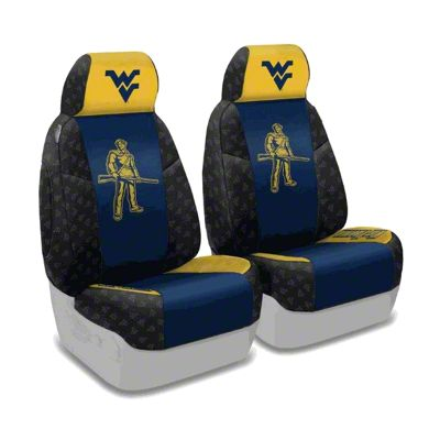 Coverking West Virginia University Front Seat Covers (87-95 Jeep Wrangler YJ)