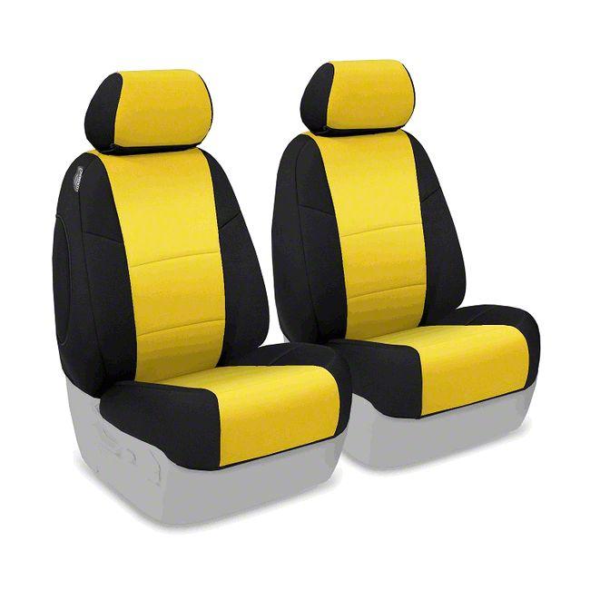 Coverking Neoprene Front Seat Covers - Synergy Green (14-18 Jeep Wrangler JK)