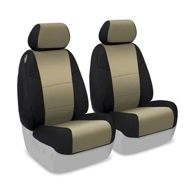 Coverking Neoprene Front Seat Covers - Tan (07-18 Jeep Wrangler JK)