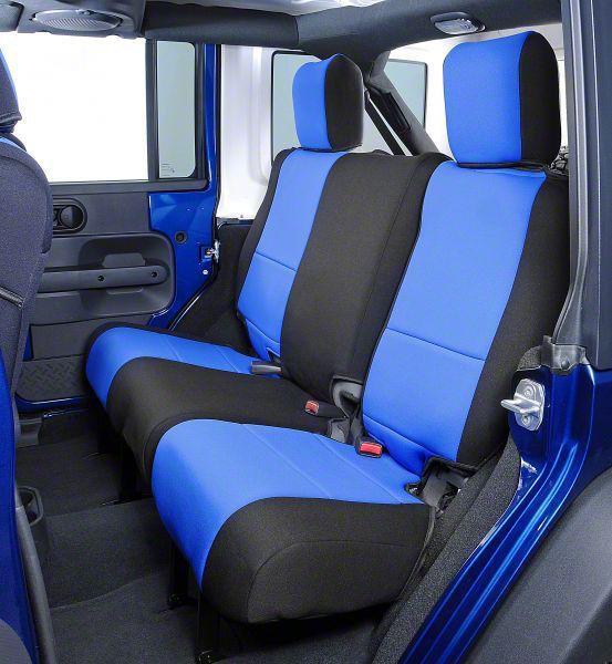 Coverking Neoprene Rear Seat Covers - Inferno Orange (14-18 Jeep Wrangler JK)