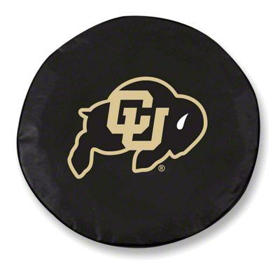 University of Colorado Spare Tire Cover - Black (87-18 Jeep Wrangler YJ, TJ, JK & JL)
