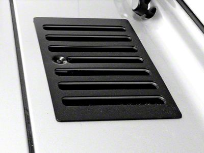 Rugged Ridge Cowl Vent Cover - Black (98-06 Jeep Wrangler TJ)