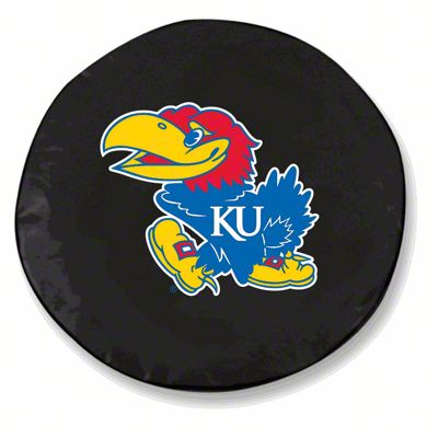 University of Kansas Spare Tire Cover - Black (87-18 Jeep Wrangler YJ, TJ, JK & JL)