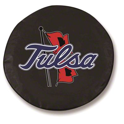 University of Tulsa Spare Tire Cover - Black (87-18 Jeep Wrangler YJ, TJ, JK & JL)