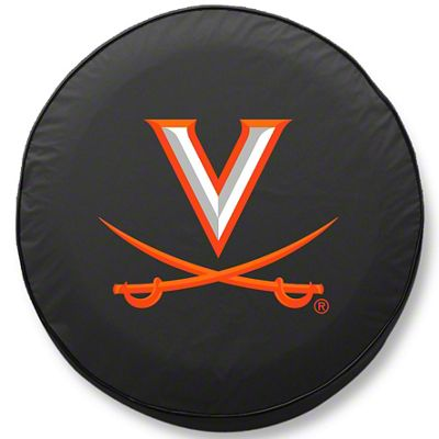 University of Virginia Spare Tire Cover - Black (87-18 Jeep Wrangler YJ, TJ, JK & JL)