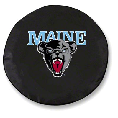 University of Maine Spare Tire Cover - Black (87-18 Jeep Wrangler YJ, TJ, JK & JL)