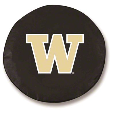 University of Washington Spare Tire Cover - Black (87-18 Jeep Wrangler YJ, TJ, JK & JL)